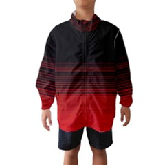 Abstract Of Red Horizontal Lines Wind Breaker (kids)