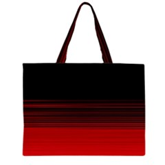 Abstract Of Red Horizontal Lines Large Tote Bag