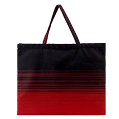 Abstract Of Red Horizontal Lines Zipper Large Tote Bag