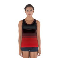 Abstract Of Red Horizontal Lines Women s Sport Tank Top