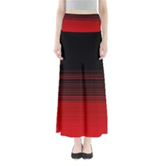 Abstract Of Red Horizontal Lines Maxi Skirts