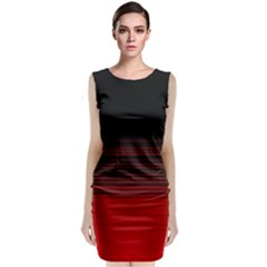 Abstract Of Red Horizontal Lines Classic Sleeveless Midi Dress