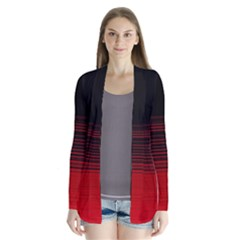 Abstract Of Red Horizontal Lines Cardigans