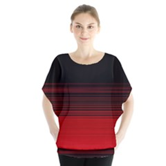 Abstract Of Red Horizontal Lines Blouse