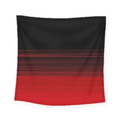 Abstract Of Red Horizontal Lines Square Tapestry (small)