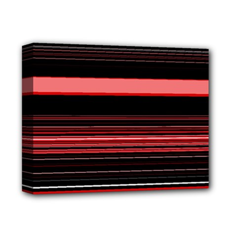 Abstract Of Red Horizontal Lines Deluxe Canvas 14  X 11