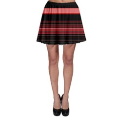 Abstract Of Red Horizontal Lines Skater Skirt