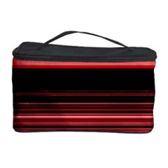 Abstract Of Red Horizontal Lines Cosmetic Storage Case