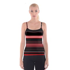 Abstract Of Red Horizontal Lines Spaghetti Strap Top
