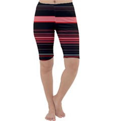 Abstract Of Red Horizontal Lines Cropped Leggings