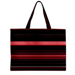 Abstract Of Red Horizontal Lines Zipper Mini Tote Bag