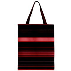 Abstract Of Red Horizontal Lines Zipper Classic Tote Bag