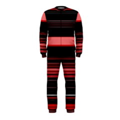 Abstract Of Red Horizontal Lines Onepiece Jumpsuit (kids)