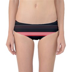Abstract Of Red Horizontal Lines Classic Bikini Bottoms