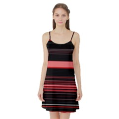 Abstract Of Red Horizontal Lines Satin Night Slip