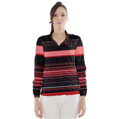 Abstract Of Red Horizontal Lines Wind Breaker (women)