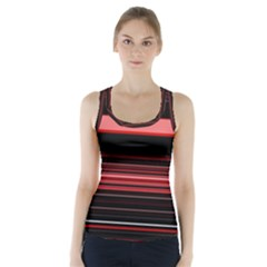 Abstract Of Red Horizontal Lines Racer Back Sports Top