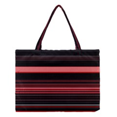 Abstract Of Red Horizontal Lines Medium Tote Bag