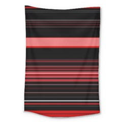 Abstract Of Red Horizontal Lines Large Tapestry