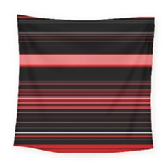 Abstract Of Red Horizontal Lines Square Tapestry (large)
