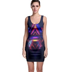 Abstract Desktop Backgrounds Sleeveless Bodycon Dress
