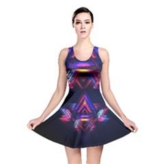 Abstract Desktop Backgrounds Reversible Skater Dress