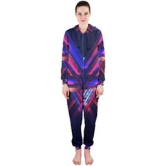 Abstract Desktop Backgrounds Hooded Jumpsuit (ladies)