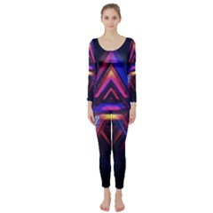 Abstract Desktop Backgrounds Long Sleeve Catsuit
