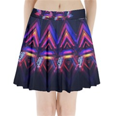 Abstract Desktop Backgrounds Pleated Mini Skirt