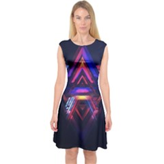 Abstract Desktop Backgrounds Capsleeve Midi Dress