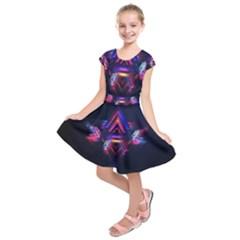 Abstract Desktop Backgrounds Kids  Short Sleeve Dress