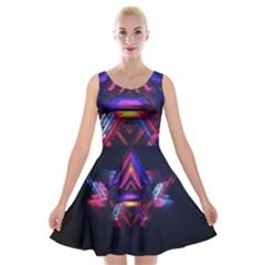 Abstract Desktop Backgrounds Velvet Skater Dress