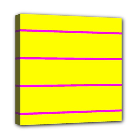 Background Image Horizontal Lines And Stripes Seamless Tileable Magenta Yellow Mini Canvas 8  X 8