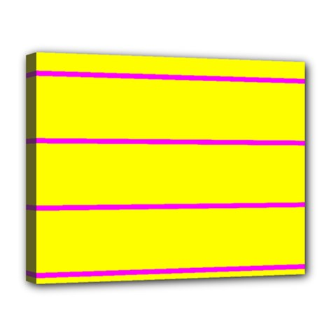 Background Image Horizontal Lines And Stripes Seamless Tileable Magenta Yellow Canvas 14  X 11