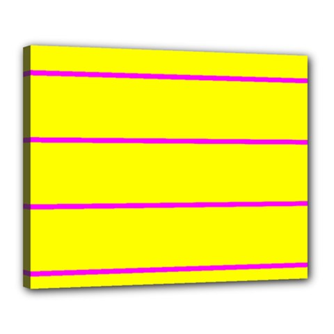 Background Image Horizontal Lines And Stripes Seamless Tileable Magenta Yellow Canvas 20  X 16