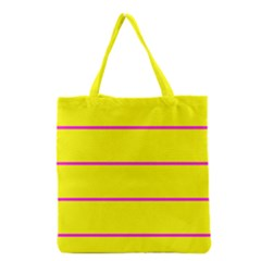 Background Image Horizontal Lines And Stripes Seamless Tileable Magenta Yellow Grocery Tote Bag