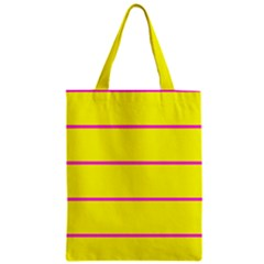 Background Image Horizontal Lines And Stripes Seamless Tileable Magenta Yellow Classic Tote Bag