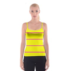 Background Image Horizontal Lines And Stripes Seamless Tileable Magenta Yellow Spaghetti Strap Top