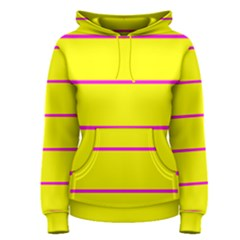 Background Image Horizontal Lines And Stripes Seamless Tileable Magenta Yellow Women s Pullover Hoodie