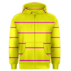 Background Image Horizontal Lines And Stripes Seamless Tileable Magenta Yellow Men s Zipper Hoodie