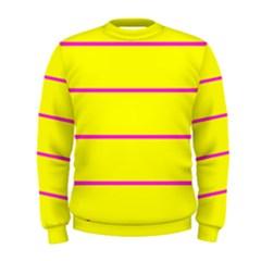 Background Image Horizontal Lines And Stripes Seamless Tileable Magenta Yellow Men s Sweatshirt