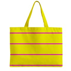 Background Image Horizontal Lines And Stripes Seamless Tileable Magenta Yellow Zipper Mini Tote Bag