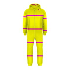 Background Image Horizontal Lines And Stripes Seamless Tileable Magenta Yellow Hooded Jumpsuit (kids)