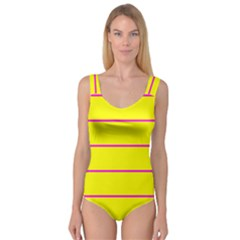 Background Image Horizontal Lines And Stripes Seamless Tileable Magenta Yellow Princess Tank Leotard