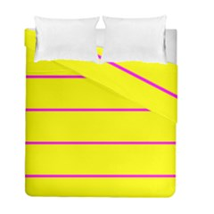 Background Image Horizontal Lines And Stripes Seamless Tileable Magenta Yellow Duvet Cover Double Side (full/ Double Size)