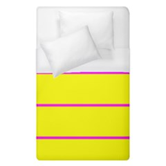 Background Image Horizontal Lines And Stripes Seamless Tileable Magenta Yellow Duvet Cover (single Size)