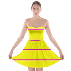 Background Image Horizontal Lines And Stripes Seamless Tileable Magenta Yellow Strapless Bra Top Dress