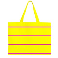 Background Image Horizontal Lines And Stripes Seamless Tileable Magenta Yellow Large Tote Bag