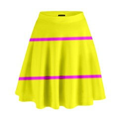 Background Image Horizontal Lines And Stripes Seamless Tileable Magenta Yellow High Waist Skirt