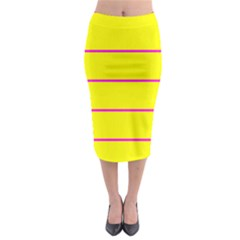 Background Image Horizontal Lines And Stripes Seamless Tileable Magenta Yellow Midi Pencil Skirt
